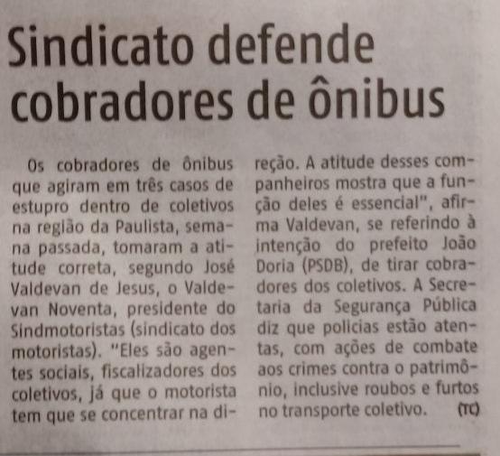 AGORA SP: Valdevan Noventa defende cobradores de ônibus