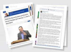"""Valdevan Noventa rebate crítica do JL Notícias: """"Desrespeito ao povo"""", afirmou."""