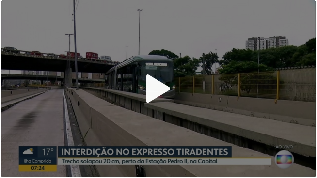 PORTAL G1: Expresso Tiradentes é interditado após denúncia do presidente Valdevan Noventa