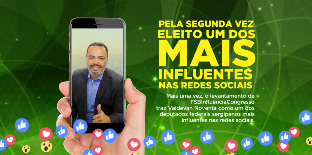 Pela segunda vez, Valdevan Noventa se destaca como um dos mais influentes nas redes sociais